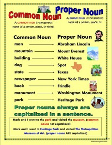 Common verses proper nouns.